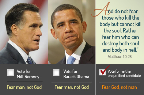Reasons to not Support Mitt Romney: Number 4: Fear God – not Barack Obama